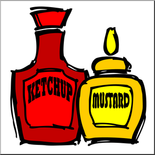Mustard clipart svg stock Clip Art: Condiments: Mustard & Ketchup Color I abcteach.com ... svg stock