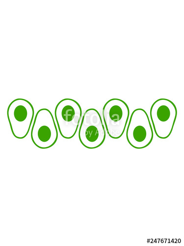 muster avocado reihe clipart obst gemüse lecker hunger gesund comic ... clip art black and white library