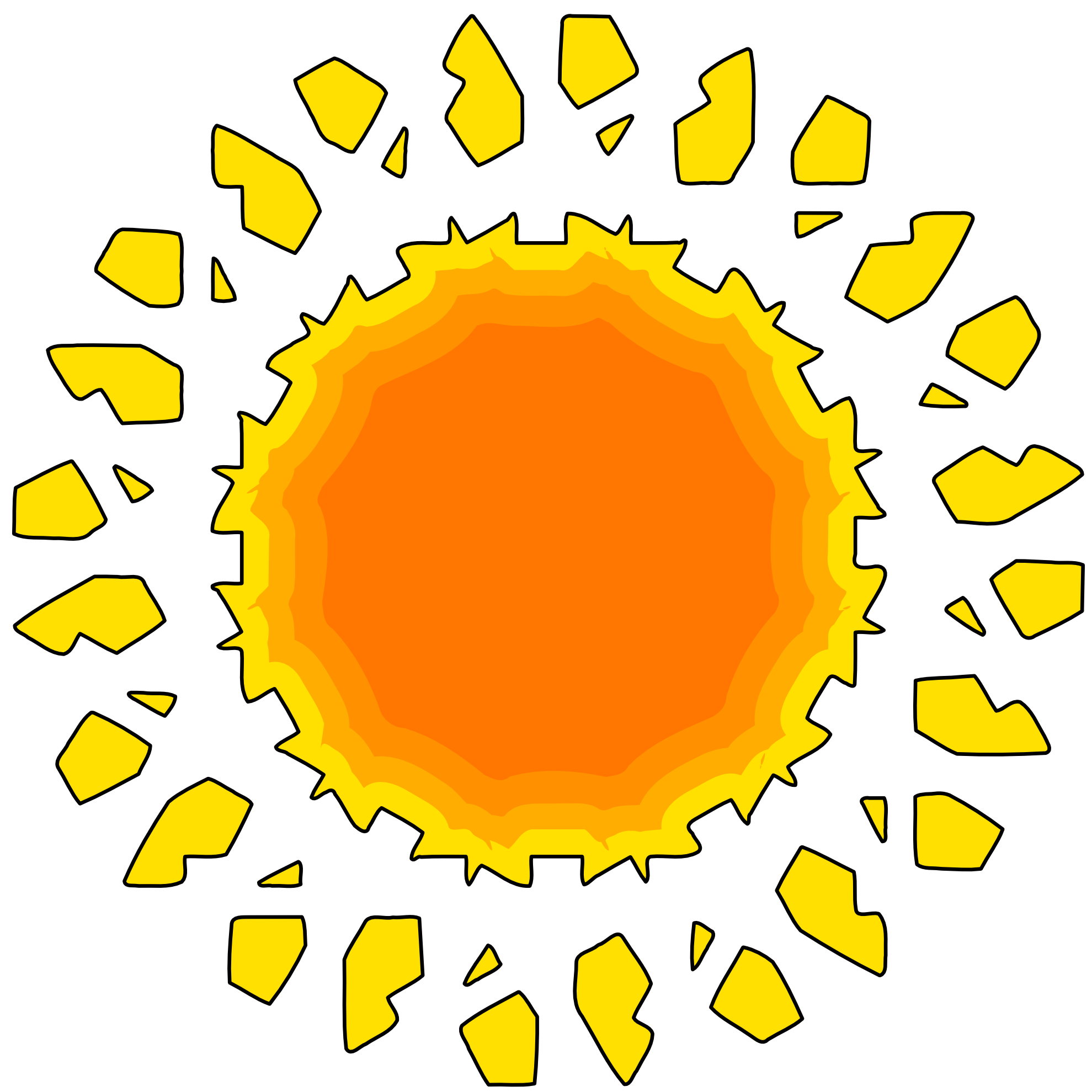 the Sun Variationen Muster | Clipart Panda - Free Clipart Images clip freeuse