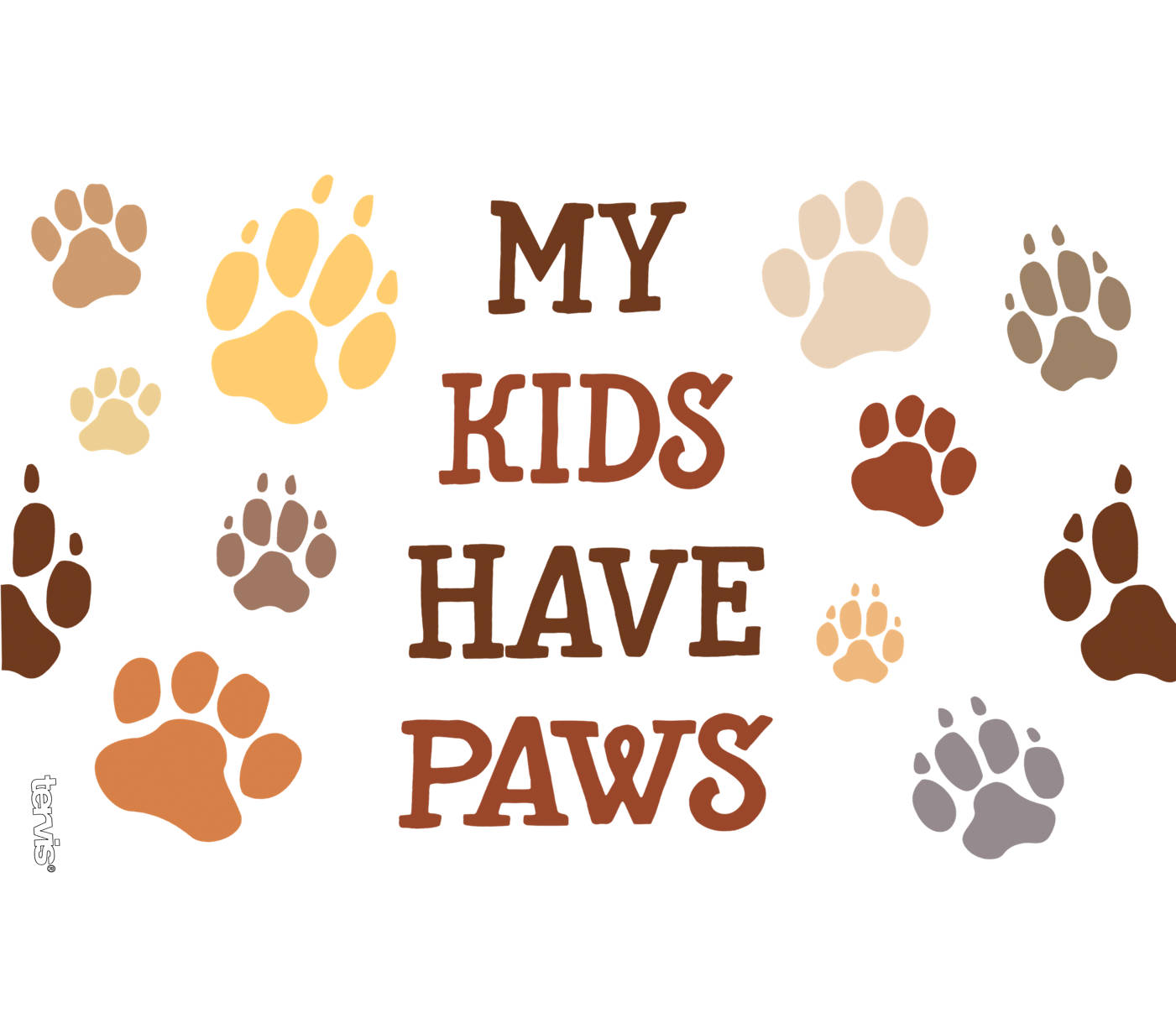 My best friend has 4 paws mug clipart clipart My Kids Have Paws Wrap With Travel Lid clipart