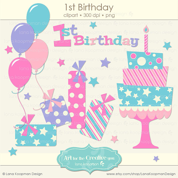 My first birthday clipart clip art black and white 1st Birthday Clipart - Clipart Kid clip art black and white