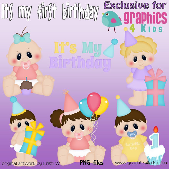 My first birthday clipart clip free library Its My Birthday Clipart - Clipart Kid clip free library