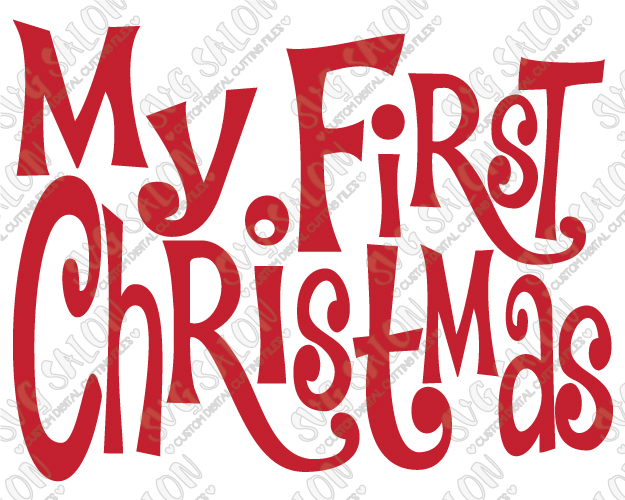 My first christmas clipart clip art library library My First Christmas Cut File in SVG, EPS, DXF, JPEG, and PNG Format clip art library library