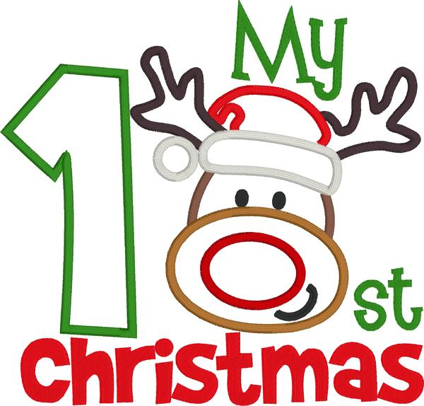 My first christmas clipart clip black and white download My First Christmas Reindeer Design clip black and white download