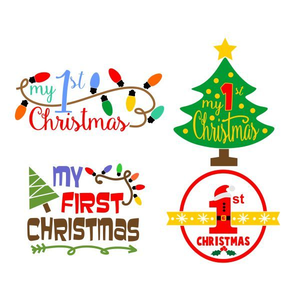 My first christmas clipart banner free stock Pin by CuttableDesigns on Christmas | Christmas scrapbook ... banner free stock