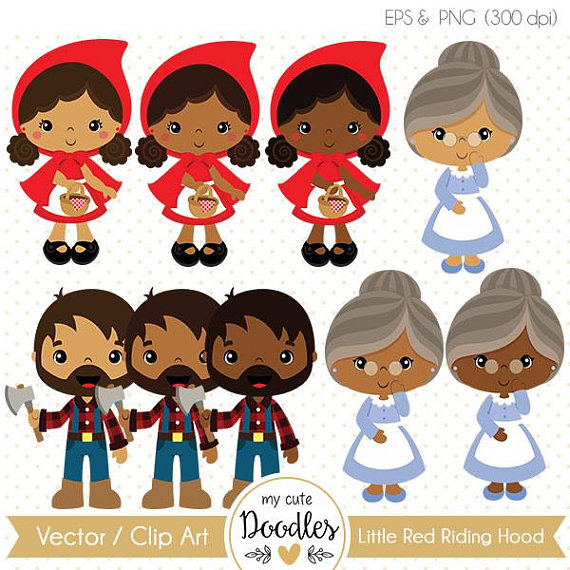 My hood clipart clipart royalty free Little Red Riding Hood clipart, cute black girl cliparts, black ... clipart royalty free