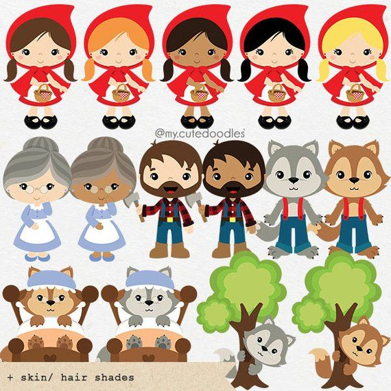 My hood clipart png royalty free Little Red Riding Hood clipart, Wolf clipart, cute woodland, boy and ... png royalty free