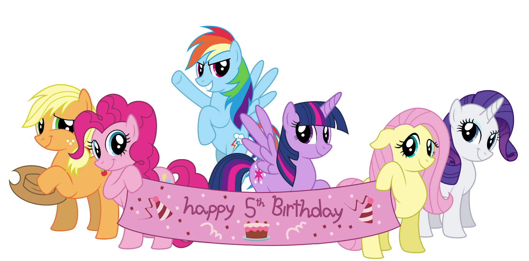 My litte pony happy birthday words clipart graphic transparent download Happy 5th birthday, MLP:FiM! - Visual Fan Art - MLP Forums graphic transparent download