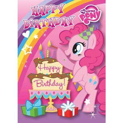 My litte pony happy birthday words clipart jpg library library My Little Pony Happy Birthday Card | For the kiddos | My little pony ... jpg library library