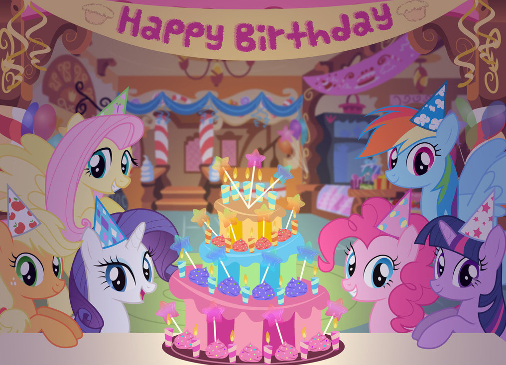 My litte pony happy birthday words clipart svg transparent Happy Birthday! | My Little Pony: Friendship is Magic | Know Your Meme svg transparent