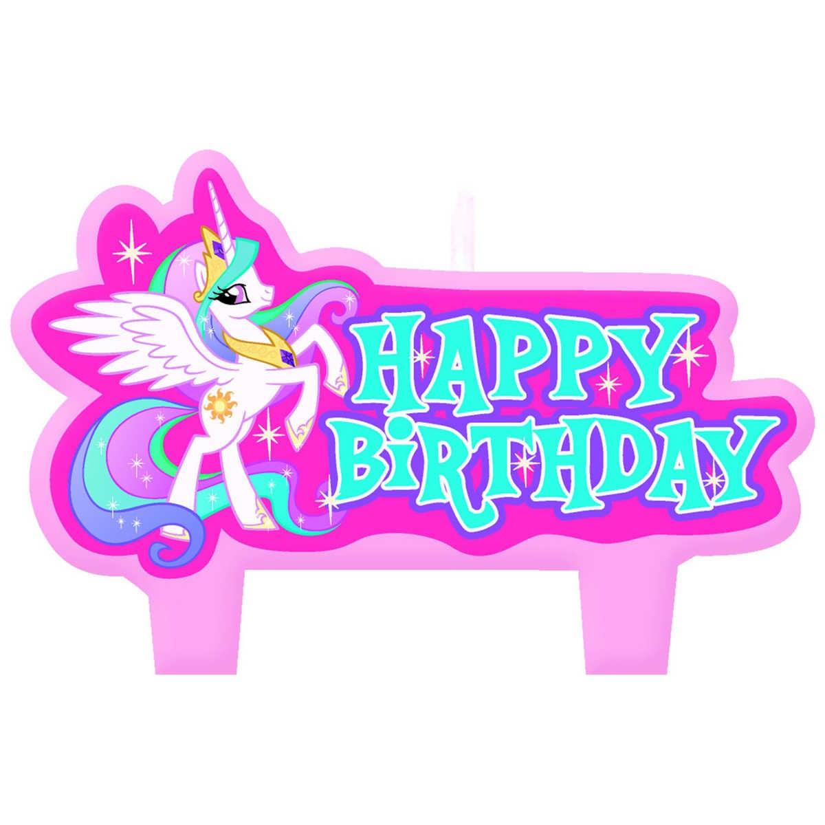 My litte pony happy birthday words clipart jpg royalty free download My Little Pony Birthday Candle Set jpg royalty free download