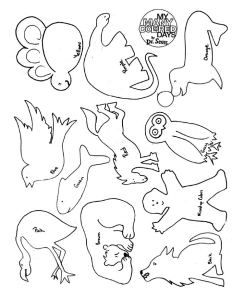 My Many Colored Days - coloring sheet with animals | dr.seuss | Yoga ... picture free download
