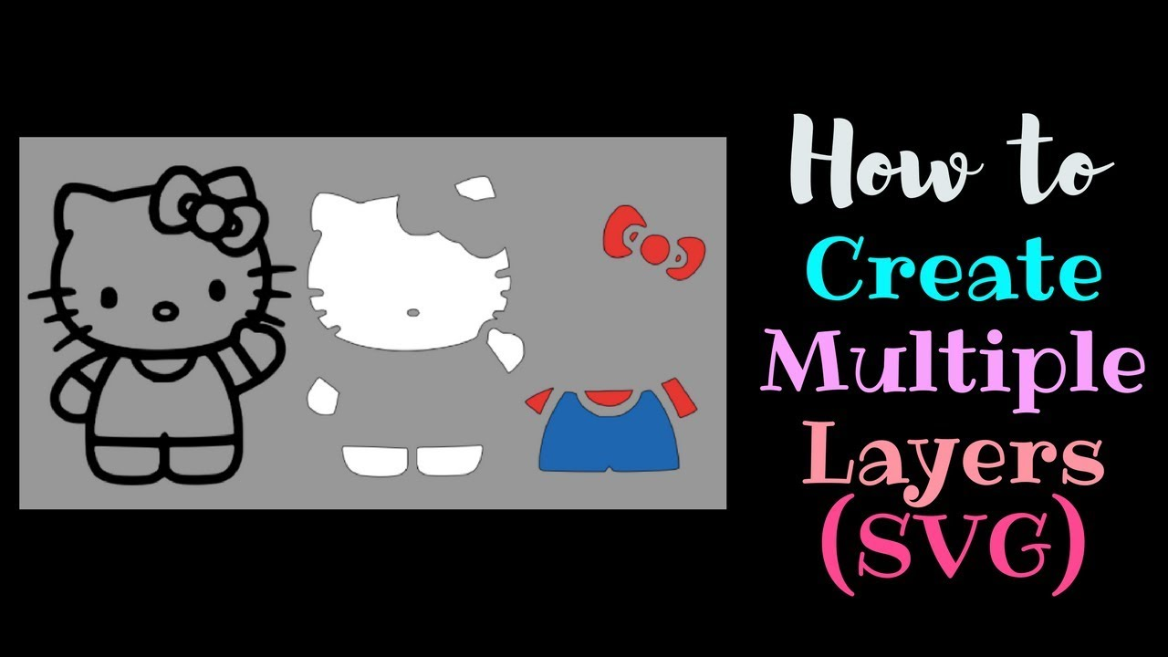 How to create Multiple Layers Multiple Colors | Cricut Design Space  Beginner | Contour vector black and white download