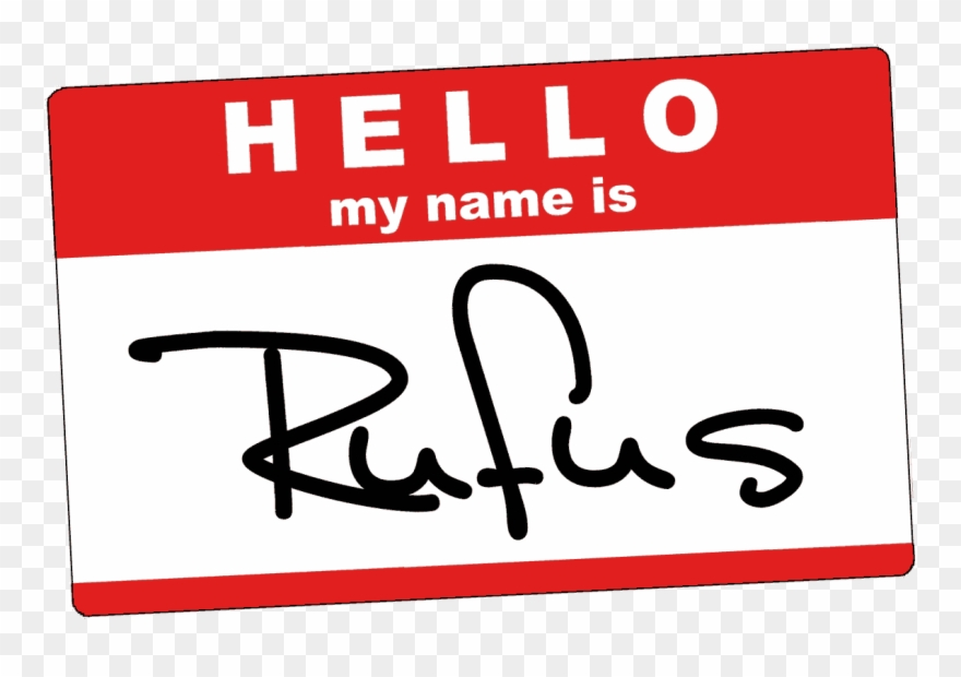 Hello My Name Is Rufus Name Tag - Hello My Name Clipart (#1620148 ... clip black and white