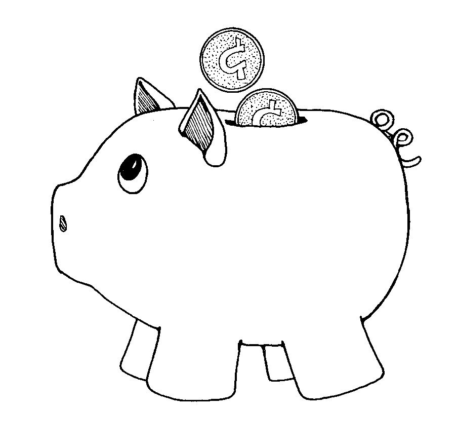 My piggy bank clipart black and white black and white Piggy bank black and white free download clip art – Gclipart.com black and white