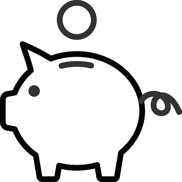 My piggy bank clipart black and white clip transparent library Piggy Bank Clipart Black And White (102+ images in Collection) Page 1 clip transparent library