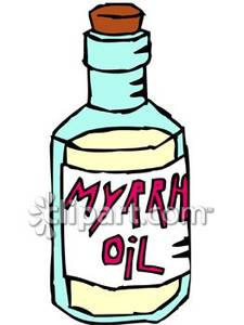 Myrhh clipart svg black and white stock Bottle of Myrrh Oil - Royalty Free Clipart Picture svg black and white stock