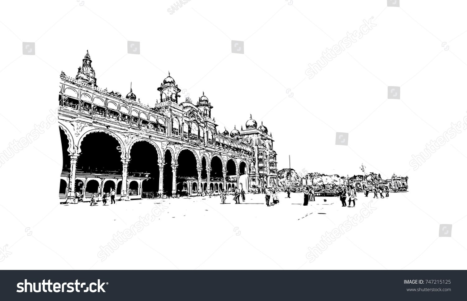 Mysore palace clipart black and white download Mysore palace clipart 9 » Clipart Portal black and white download