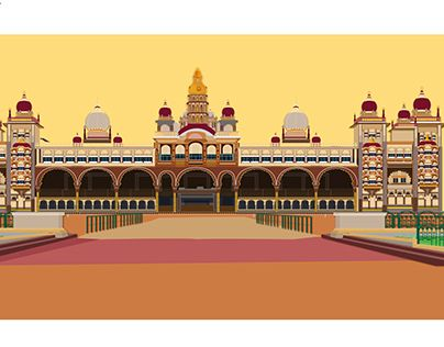 Mysore palace clipart image transparent download Pin by Aditya Shukla on MYSORE PALACE ILLUSTRATION in 2019 | Mysore ... image transparent download