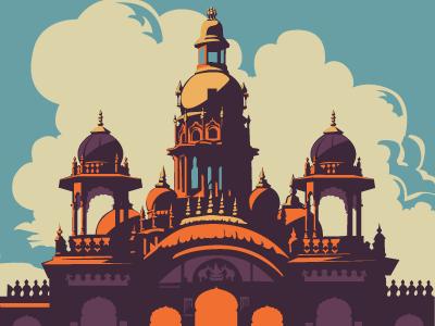 Mysore palace clipart graphic library download Mysore Palace by ranganath krishnamani on Dribbble graphic library download