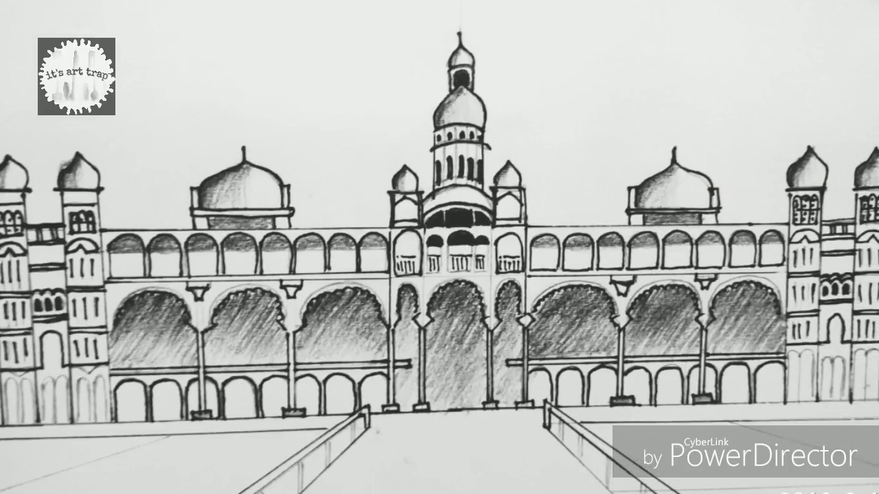 Mysore palace clipart clip library How to draw a palace (mysore palace) by its art trap clip library