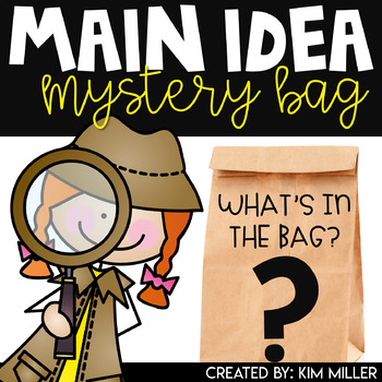 Mystery bag clipart image royalty free library Main Idea Worksheets | Themed Mystery Bags image royalty free library
