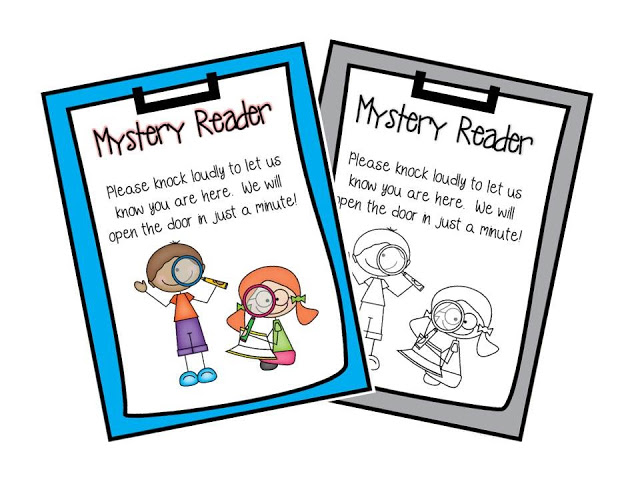 Mystery reader clipart banner royalty free download Teach With Laughter: Mystery Reader Door Sign - Clip Art Library banner royalty free download