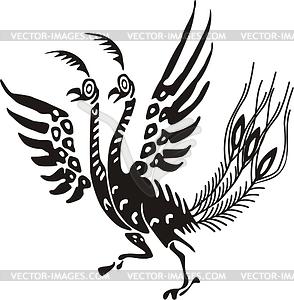 Mythic clipart jpg black and white stock Chinese mythic bird - vector clipart jpg black and white stock