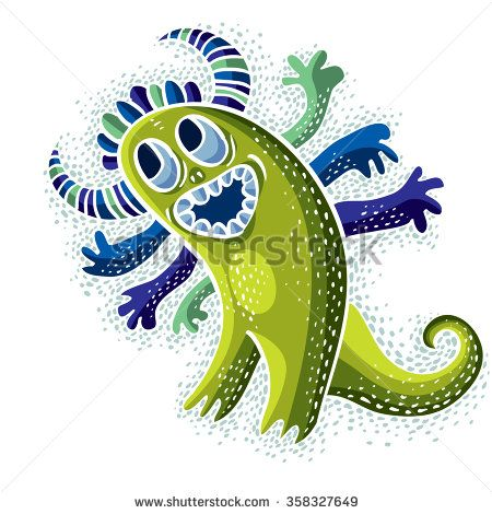 Mythic clipart png transparent Vector cool cartoon happy smiling monster, simple weird creature ... png transparent