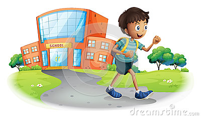 Nach clipart clip black and white stock Boy Going Home School Stock Illustrations – 14 Boy Going Home ... clip black and white stock
