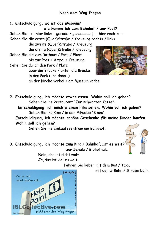 Nach dem weg fragen clipart banner library 17 Best images about German-WEGBESCHREIBEN on Pinterest   Deutsch ... banner library
