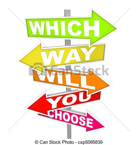 Nach dem weg fragen clipart picture download Stock Illustration of Questions on Arrow SIgns - Which Way Will ... picture download