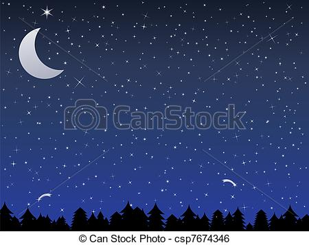 Nacht clipart clip art transparent library Night in the Forest Clip Art – Clipart Free Download clip art transparent library