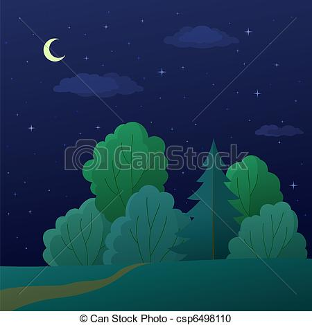 Nacht clipart clipart library stock Night in the Forest Clip Art – Clipart Free Download clipart library stock
