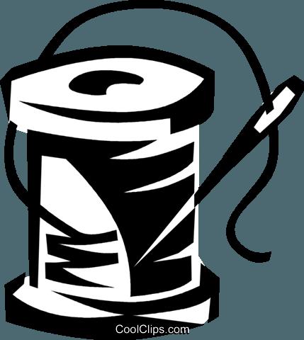 Nadel und faden clipart clip black and white stock Nadel und Faden Vektor Clipart Bild -vc038052-CoolCLIPS.com clip black and white stock