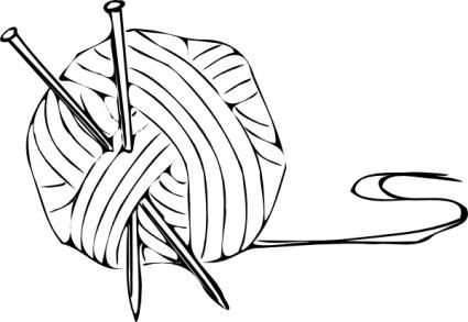 Nadel und faden clipart image black and white stock Strickende Nadeln Garn ClipArt cliparts, kostenlose clipart ... image black and white stock