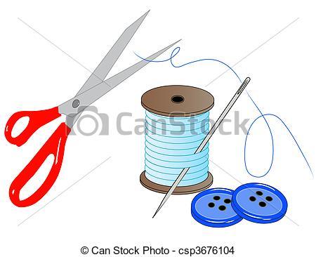 Nadel und faden clipart clip library download Zeichnung von nähen, Faden, Nadel, -, Satz, Tasten, vektor, schere ... clip library download