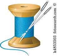 Nadel und faden clipart image freeuse stock Nadel Clip Art Lizenzfrei. 23.796 nadel Clipart Vektor EPS ... image freeuse stock