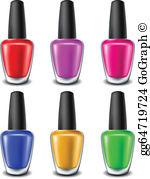 Nail polish clipart free svg library stock Nail Polish Clip Art - Royalty Free - GoGraph svg library stock