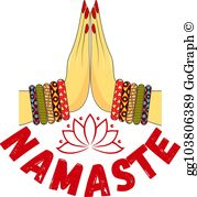 Namaste Clip Art - Royalty Free - GoGraph graphic free download