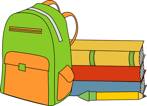 Books and a backpack. | School Supplies Clip Art | Clip art, School ... freeuse download