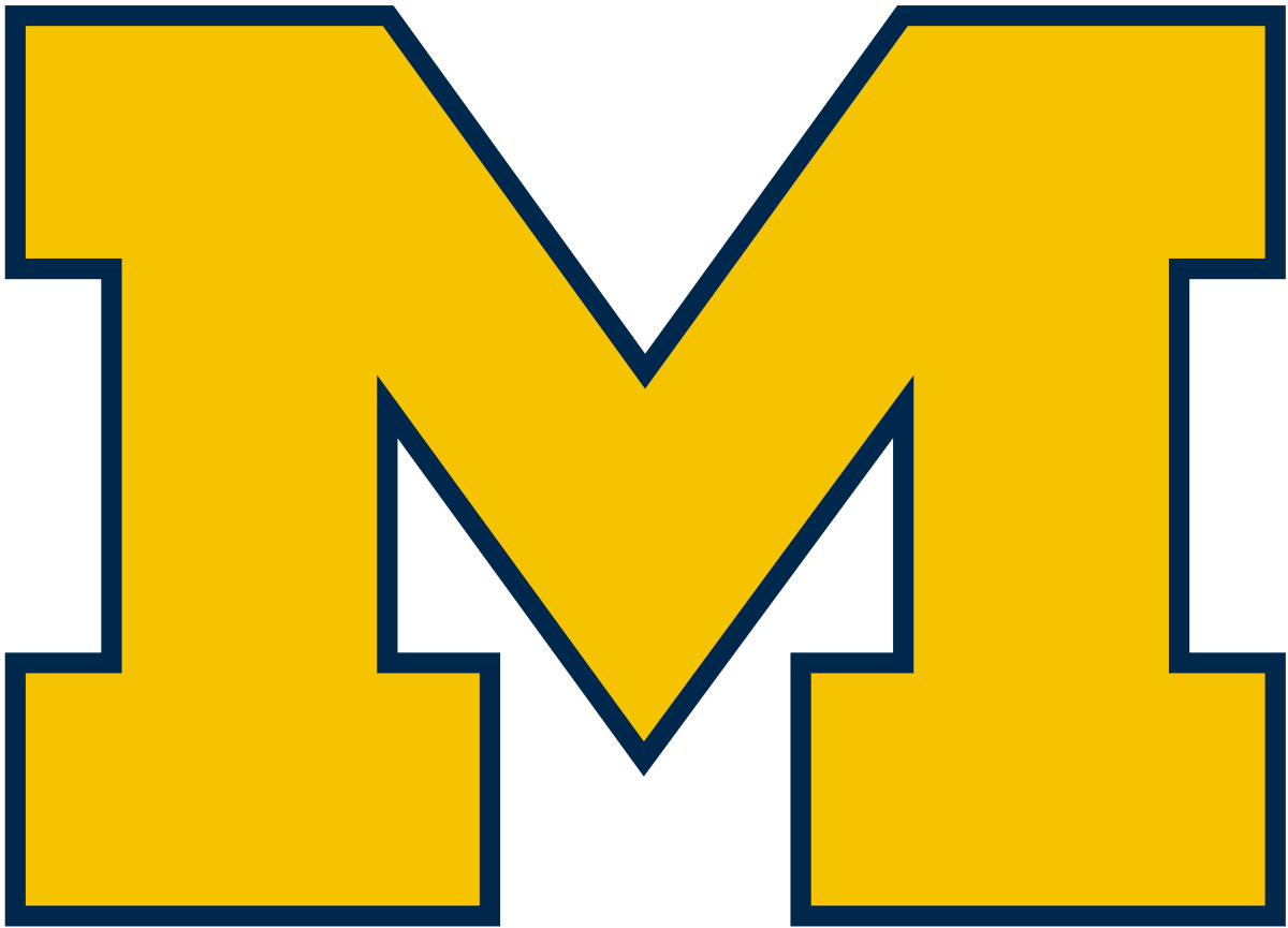 Name quinn in blue letters clipart graphic royalty free Michigan Wolverines men\'s ice hockey - Wikipedia graphic royalty free
