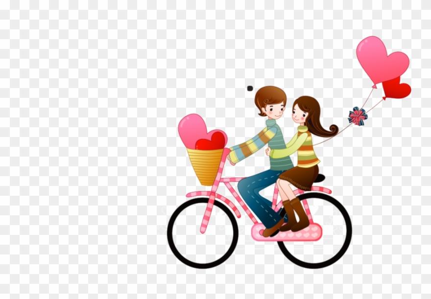 Namorados clipart transparent stock Imagens Png Namorados Clipart Clip Art - Boy Girl Bike Png ... transparent stock