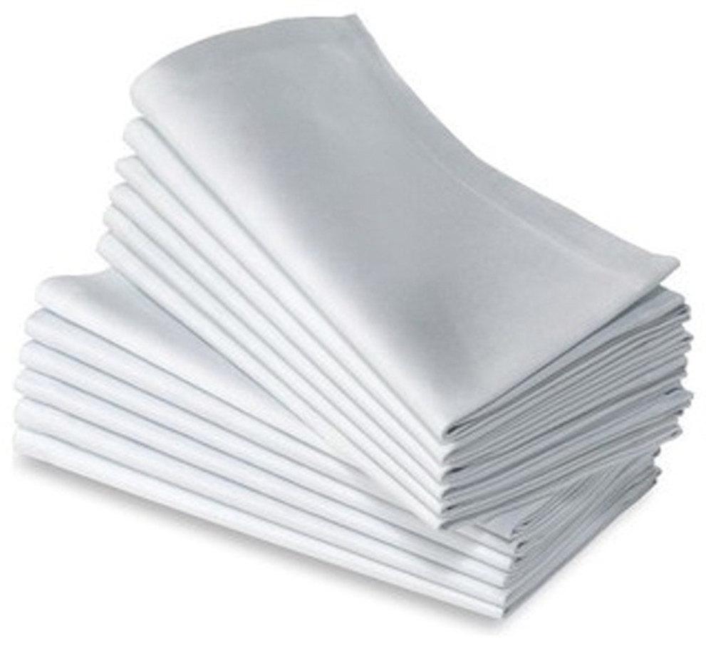 WHITE NAPKINS black and white stock