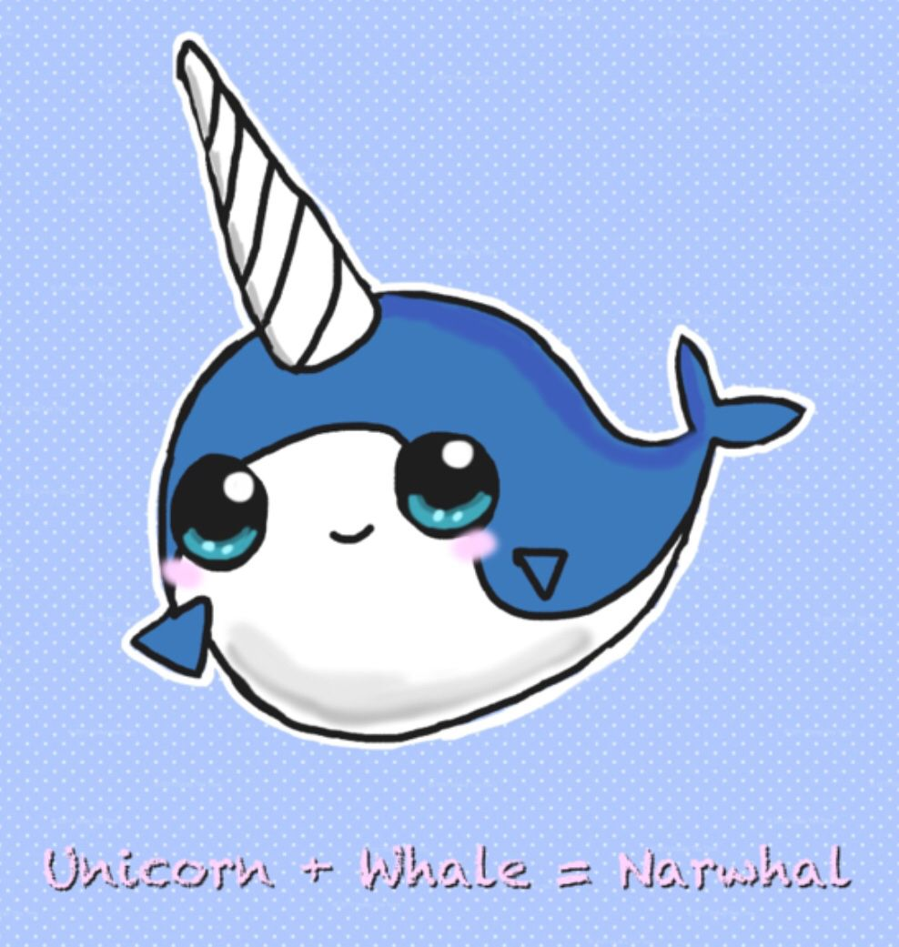 Narwhal without a horn clipart graphic library Narwhals are awesome   Mckayla   Cute narwhal, Cute unicorn, Cute ... graphic library