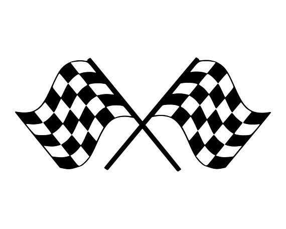 Racing Flag SVG, Race Car Flag SVG, Checkered Flag SVG ... clip black and white