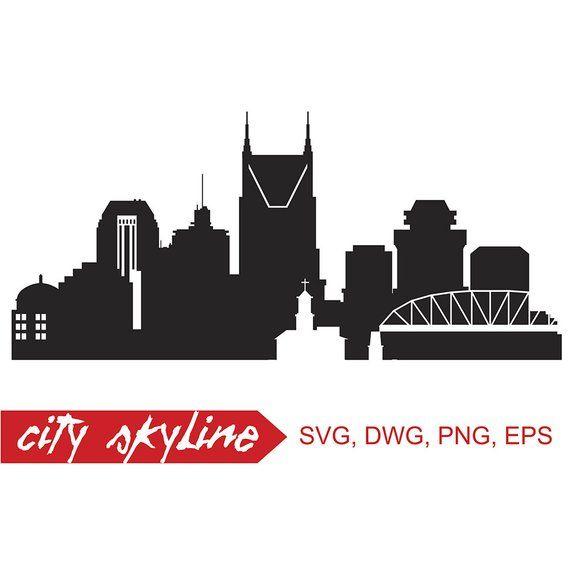 Nashville skyline silhouette clipart