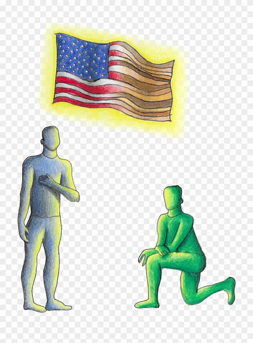 National anthem clipart clip art freeuse Kneeling During The National Anthem Clipart (#2917745 ... clip art freeuse