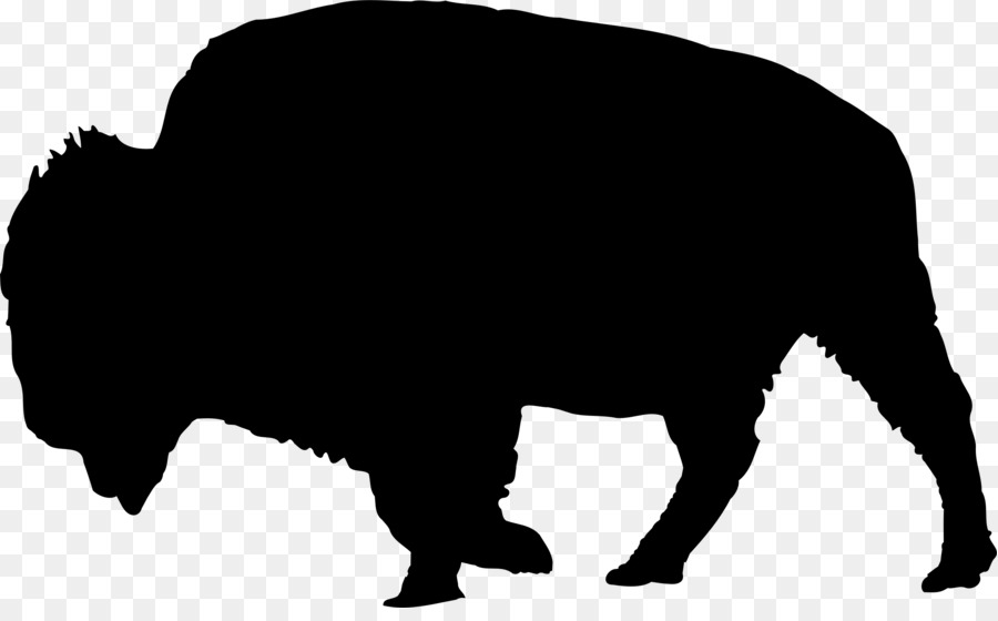 Native american buffalo clipart free silhouette svg black and white stock Free Buffalo Silhouette Clip Art Free, Download Free Clip ... svg black and white stock