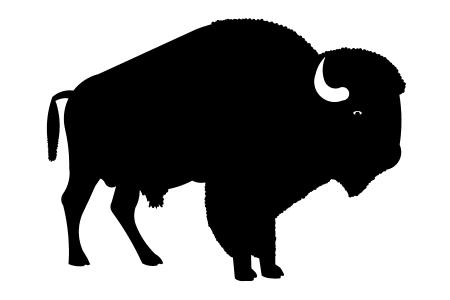 Native american buffalo clipart free silhouette graphic royalty free stock Buffalo Silhouette Clipart | Free download best Buffalo ... graphic royalty free stock